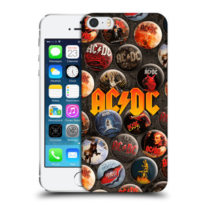Plastové pouzdro na mobil Apple iPhone SE, 5 a 5S HEAD CASE AC/DC Placky