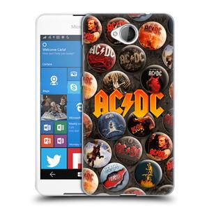 Plastové pouzdro na mobil Microsoft Lumia 650 HEAD CASE AC/DC Placky