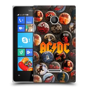Plastové pouzdro na mobil Microsoft Lumia 435 HEAD CASE AC/DC Placky