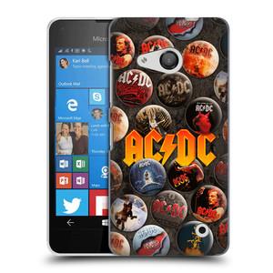 Plastové pouzdro na mobil Microsoft Lumia 550 HEAD CASE AC/DC Placky