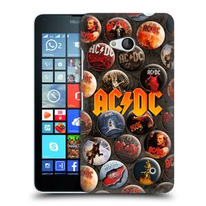 Plastové pouzdro na mobil Microsoft Lumia 640 HEAD CASE AC/DC Placky