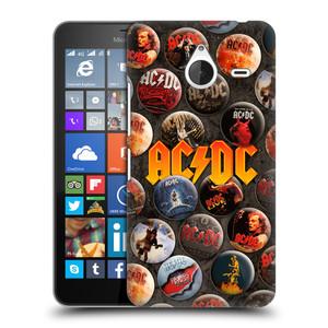 Plastové pouzdro na mobil Microsoft Lumia 640 XL HEAD CASE AC/DC Placky