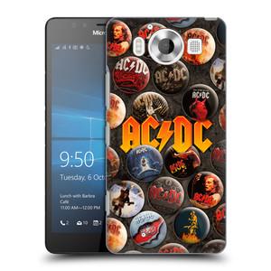 Plastové pouzdro na mobil Microsoft Lumia 950 HEAD CASE AC/DC Placky