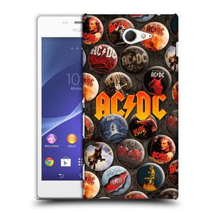 Plastové pouzdro na mobil Sony Xperia M2 D2303 HEAD CASE AC/DC Placky