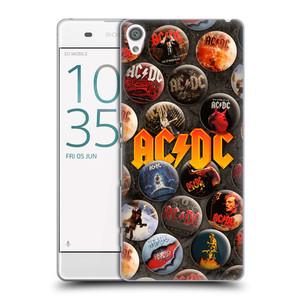 Plastové pouzdro na mobil Sony Xperia XA HEAD CASE AC/DC Placky
