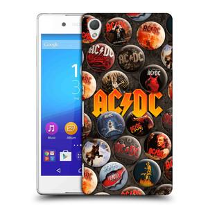 Plastové pouzdro na mobil Sony Xperia Z3+ (Plus) HEAD CASE AC/DC Placky