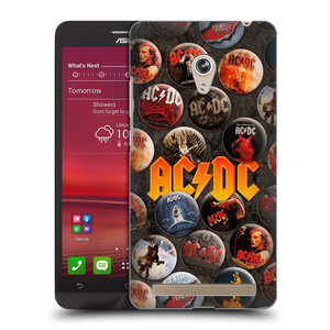 Plastové pouzdro na mobil Asus Zenfone 6 HEAD CASE AC/DC Placky