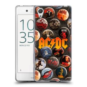 Silikonové pouzdro na mobil Sony Xperia X HEAD CASE AC/DC Placky