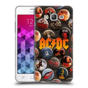 Silikonové pouzdro na mobil Samsung Galaxy Grand Prime HEAD CASE AC/DC Placky