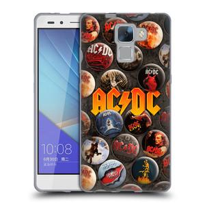 Silikonové pouzdro na mobil Honor 7 HEAD CASE AC/DC Placky