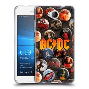 Silikonové pouzdro na mobil Microsoft Lumia 650 HEAD CASE AC/DC Placky