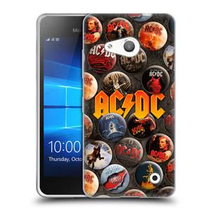 Silikonové pouzdro na mobil Microsoft Lumia 550 HEAD CASE AC/DC Placky