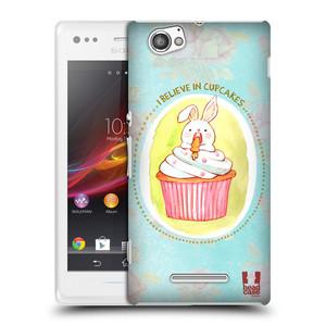 Plastové pouzdro na mobil Sony Xperia M C1905 HEAD CASE KRÁLÍČEK CUPCAKE