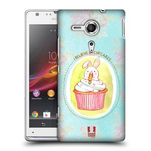 Plastové pouzdro na mobil Sony Xperia SP C5303 HEAD CASE KRÁLÍČEK CUPCAKE
