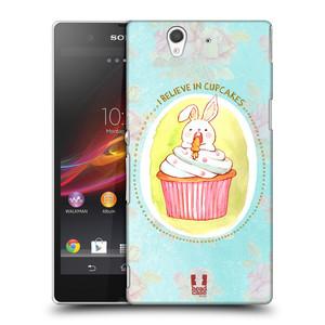 Plastové pouzdro na mobil Sony Xperia Z C6603 HEAD CASE KRÁLÍČEK CUPCAKE