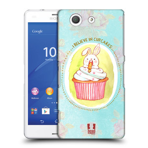 Plastové pouzdro na mobil Sony Xperia Z3 Compact D5803 HEAD CASE KRÁLÍČEK CUPCAKE