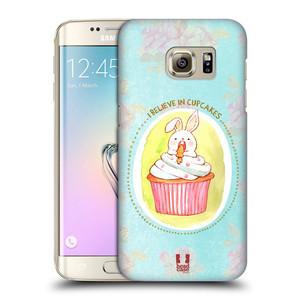 Plastové pouzdro na mobil Samsung Galaxy S7 Edge HEAD CASE KRÁLÍČEK CUPCAKE