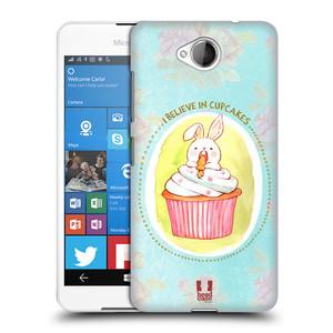 Plastové pouzdro na mobil Microsoft Lumia 650 HEAD CASE KRÁLÍČEK CUPCAKE