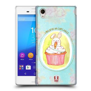 Plastové pouzdro na mobil Sony Xperia M4 Aqua E2303 HEAD CASE KRÁLÍČEK CUPCAKE