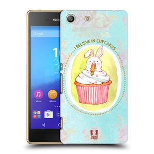 Plastové pouzdro na mobil Sony Xperia M5 HEAD CASE KRÁLÍČEK CUPCAKE
