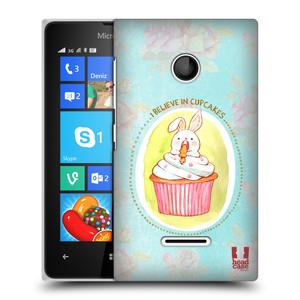 Plastové pouzdro na mobil Microsoft Lumia 435 HEAD CASE KRÁLÍČEK CUPCAKE