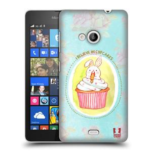 Plastové pouzdro na mobil Microsoft Lumia 535 HEAD CASE KRÁLÍČEK CUPCAKE