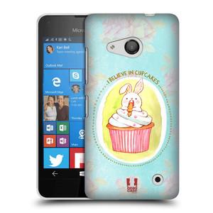 Plastové pouzdro na mobil Microsoft Lumia 550 HEAD CASE KRÁLÍČEK CUPCAKE