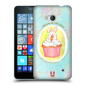 Plastové pouzdro na mobil Microsoft Lumia 640 HEAD CASE KRÁLÍČEK CUPCAKE