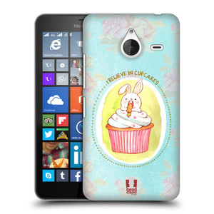 Plastové pouzdro na mobil Microsoft Lumia 640 XL HEAD CASE KRÁLÍČEK CUPCAKE