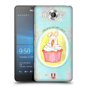 Plastové pouzdro na mobil Microsoft Lumia 950 HEAD CASE KRÁLÍČEK CUPCAKE