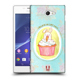 Plastové pouzdro na mobil Sony Xperia M2 D2303 HEAD CASE KRÁLÍČEK CUPCAKE