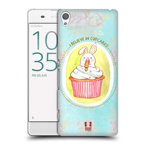 Plastové pouzdro na mobil Sony Xperia XA HEAD CASE KRÁLÍČEK CUPCAKE
