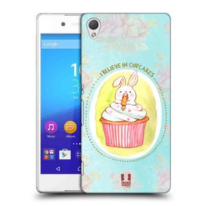 Plastové pouzdro na mobil Sony Xperia Z3+ (Plus) HEAD CASE KRÁLÍČEK CUPCAKE