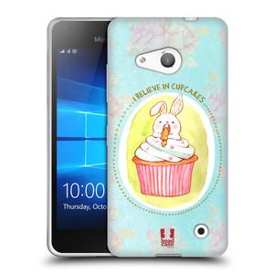 Silikonové pouzdro na mobil Microsoft Lumia 550 HEAD CASE KRÁLÍČEK CUPCAKE