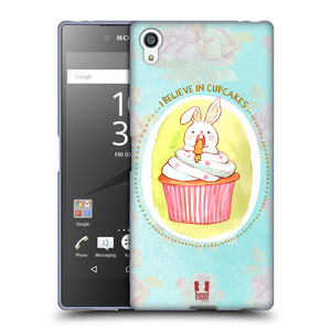 Silikonové pouzdro na mobil Sony Xperia Z5 Premium HEAD CASE KRÁLÍČEK CUPCAKE