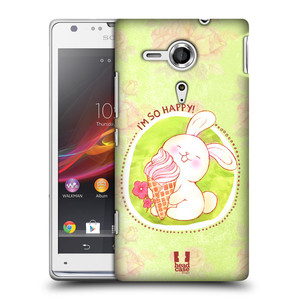 Plastové pouzdro na mobil Sony Xperia SP C5303 HEAD CASE KRÁLÍČEK A ZMRZKA