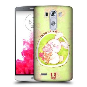 Plastové pouzdro na mobil LG G3 HEAD CASE KRÁLÍČEK A ZMRZKA