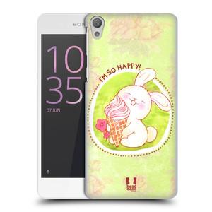 Plastové pouzdro na mobil Sony Xperia E5 HEAD CASE KRÁLÍČEK A ZMRZKA