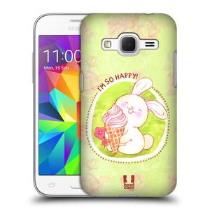 Plastové pouzdro na mobil Samsung Galaxy Core Prime LTE HEAD CASE KRÁLÍČEK A ZMRZKA
