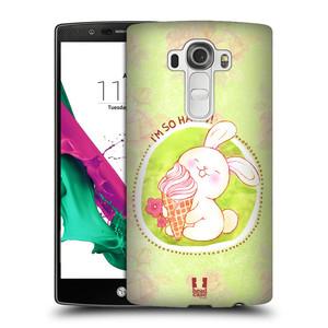 Plastové pouzdro na mobil LG G4 HEAD CASE KRÁLÍČEK A ZMRZKA