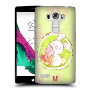 Plastové pouzdro na mobil LG G4s HEAD CASE KRÁLÍČEK A ZMRZKA