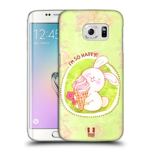 Plastové pouzdro na mobil Samsung Galaxy S6 Edge HEAD CASE KRÁLÍČEK A ZMRZKA