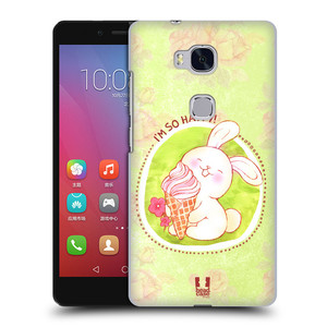 Plastové pouzdro na mobil Honor 5X HEAD CASE KRÁLÍČEK A ZMRZKA