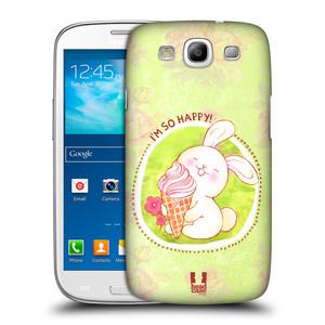 Plastové pouzdro na mobil Samsung Galaxy S3 Neo HEAD CASE KRÁLÍČEK A ZMRZKA