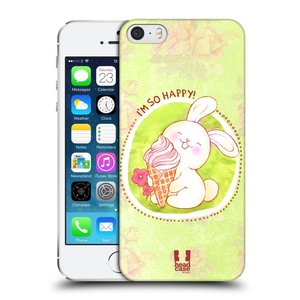 Plastové pouzdro na mobil Apple iPhone SE, 5 a 5S HEAD CASE KRÁLÍČEK A ZMRZKA