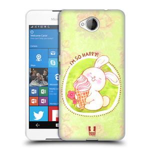 Plastové pouzdro na mobil Microsoft Lumia 650 HEAD CASE KRÁLÍČEK A ZMRZKA