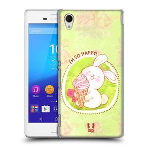 Plastové pouzdro na mobil Sony Xperia M4 Aqua E2303 HEAD CASE KRÁLÍČEK A ZMRZKA