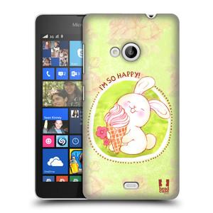 Plastové pouzdro na mobil Microsoft Lumia 535 HEAD CASE KRÁLÍČEK A ZMRZKA