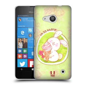 Plastové pouzdro na mobil Microsoft Lumia 550 HEAD CASE KRÁLÍČEK A ZMRZKA