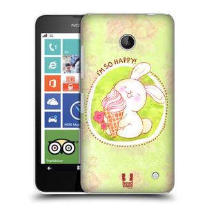 Plastové pouzdro na mobil Nokia Lumia 630 HEAD CASE KRÁLÍČEK A ZMRZKA